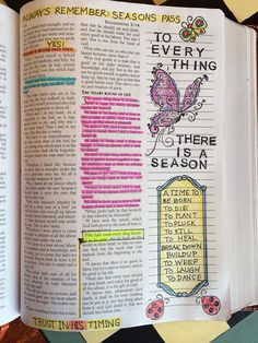 Examples of Bible Journalling using rubber stamps and coloring them in...