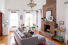 Lauren Wills' Brooklyn living room featured on @dominomag