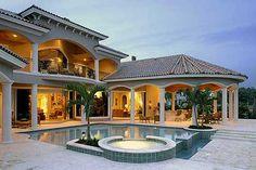 2 story florida house plan | ... Florida, Mediterranean, Premium Collection House Plans & Home Designs