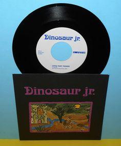 "DINOSAUR JR. little fury things , in a jar 7"" Vinyl Record , j mascis"