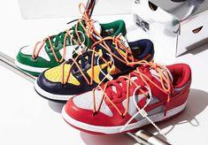 12月20日(金)発売 Off-White™ と NIKE によるコラボ DUNK LOW 全3色【国内販売店舗を追加】 – Street Fashion Press Nike Dunks, Nike Lebron, Nike Basketball, Jordan 11, Nike Zoom, Nike Sportswear, Nike Air Max, Sneakers Fashion, Sneakers Nike