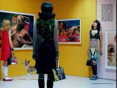 Ruby Aldridge by Miles Aldridge for Vogue Italia March 2014
