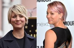 Stars love to switch up their look. From major dye jobs to cool cuts, these are the best hair makeovers of Celebrity Hairstyles, Cool Hairstyles, Kaley Cuoco, Celebs, Women, Celebrities, Fancy Hairstyles, Celebrity, Famous People