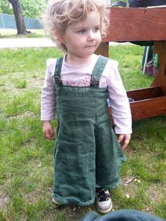 Custom Linen Viking Norse Apron Dress Svana by CamelotCreationscom, $70.00 - Ok so the little one's dress isn't that expensive (contact me for pricing) but she just looked too darn cute not to use her photo as the last one in the listing  ;)