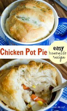 The Best Homemade Chicken Pot Pie on the planet! So easy and a perfect easy dinner recipe. I used a rotisserie chicken so that helped save on time.