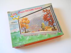 Vintage Tuco Puzzle • Autumn in the Smokies 1957 • 1950s Scenic Picture Puzzle by lisabretrostyle on Etsy