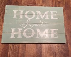 Home sweet home pallet wall art family decor distressed saying bright beautiful living room made to order custom love handmade hand painted by MESHxoxo on Etsy #pin15 for 15% off