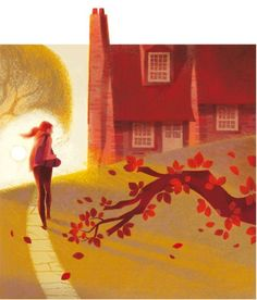 Automn by French Illustrator, Anette Marnat.