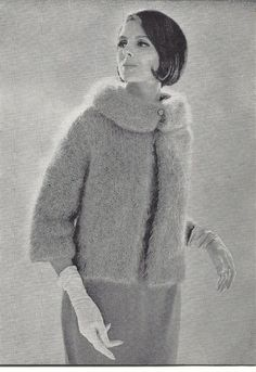 Knitting Patterns Mohair 1961 Vintage Knitting Pattern Mohair Jacket by mBellish… – Awesome Knitting Ideas and Newest Knitting Models Knitting Patterns, Knitting Ideas, Vintage Knitting, Weaving, Vintage Fashion, Crochet, Classic, Jackets, Pullover
