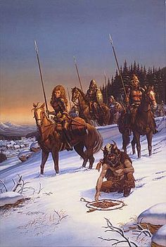 Larry Elmore, Neige-The cover for S.M. Stirling's Snow Brother, The first Fifth Millennium novel.
