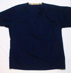 Unisex Medical Fashion Seal Reversible Navy Blue Scrubs Top Size Medium  #FashionSeal