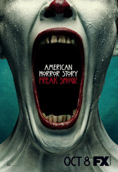 American Horror Story ~ jaw unhinged screaming, mouth full of Advertising.
