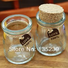 75*55mm Clear Glass Bottle Vials Charms / Wedding candy With Corks /EYEHOOKS,For Wedding Holiday Decoration Christmas Gifts $22.45