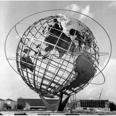 Low angle view of a sculpture of a globe Unisphere 1964 New York Worlds Fair Queens New York City New York USA Canvas Art - (24 x 36)