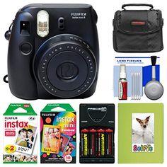 Fujifilm Instax Mini 8 Instant Film Camera (Black) with Photo Album   Instant Film