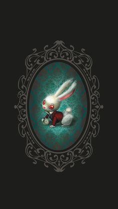"Benjamin Lacombe ♠ ""Alice in Wonderland"" - White Rabbit Art Tim Walker, Illustrations, Illustration Art, John Kenn, Gothic Fantasy Art, Alice Madness, Lowbrow Art, Image Manga, Pop Surrealism"