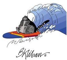 Surf Cat by B. Kliban