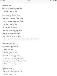 Soldier Boy by the Shirrells Easy Ukulele Songs, Cool Ukulele, Ukulele Tabs, Guitar Songs, Guitar Chords, Music Music, Sheet Music, Be True To Yourself, Pop Rocks