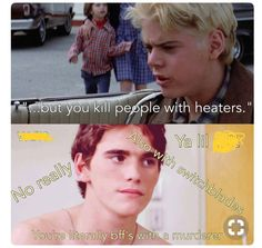 No duh Pony. it's not like cinnamon rolls Johnny killed a man or something.totally and completely true. The Outsiders Greasers, The Outsiders 1983, The Outsiders Quotes, The Outsiders Imagines, 90s Movies, Good Movies, The Outsiders Preferences, Ralph Macchio, Matt Dillon