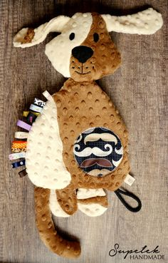 Puppy, Baby comforter, toy, cushion, doggy, dog, taggy, taggie - MADE TO ORDER