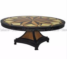 Mesa De Jantar Marquiterrie Design Art Deco Impecavel - R$ 24.000,00 em Mercado Livre