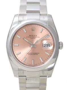 Rolex Oyster Perpetual Date 34 115200 Pink Index