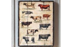 Framed Vintage Cow Breeds - From Antiquefarmhouse.com - http://www.antiquefarmhouse.com/current-sale-events/cattle3/framed-vintage-cow-breeds.html