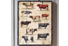 Framed Vintage Cow Breeds - From Antiquefarmhouse.com - http://www.antiquefarmhouse.com/current-sale-events/cattle3/framed-vintage-cow-breeds.html