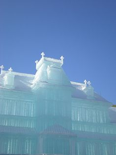 The 59th Sapporo Snow Festival, Japan. this is built from Ice.