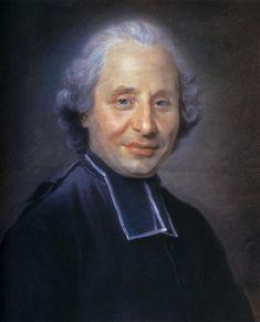 Portrait of abbot - Морис Кантен де Латур