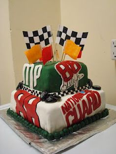 Nascar fondant cake