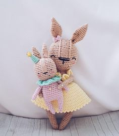 Crochet BUNNY GIRL with BABY pattern