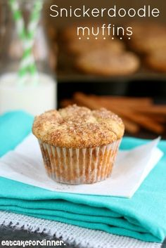 Secret Ingredient Snickerdoodle Muffins are so delicious!  #muffins #snickerdoodle