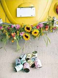 Niepoprawna Panna Młoda: Dekoracje pojazdów ślubnych