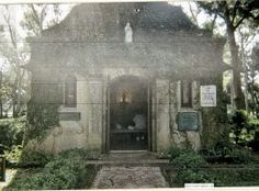 Here is the front outside of the church on the old mission grounds in St Augustine Florida where many people have seen a ghostly nun both outside the church and inside the church.