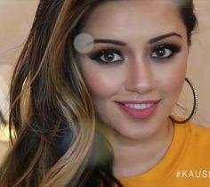 Makeup by kaushal beauty Kaushal Beauty, Red Lips, Love Her, Hair Beauty, Hoop Earrings, Mma, Makeup, Fashion, Shabby Chic