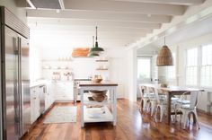 Rustic modern kitchen in seaside cottage | Remodelista