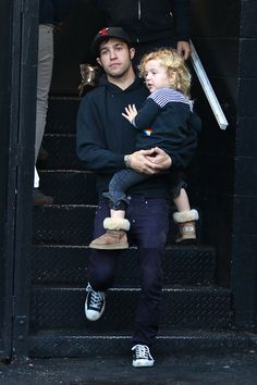 Daddy duty! Pete Wentz and Bronx Mowgli out in LA