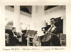 — Rostropovich at 21 playing for the first time at Budapest Philarmonic Orchestra