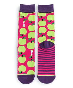 Love this Woven Pear Green & Red Teacher's Pet Socks by Woven Pear on #zulily! #zulilyfinds