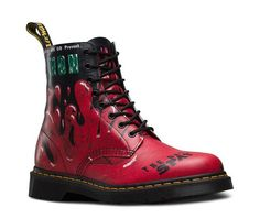 Dr. Martens PASCAL Demented Are Go Backhand Red Rot 8-Loch 21092102, Groesse:39 EU / 6 UK / 8 US