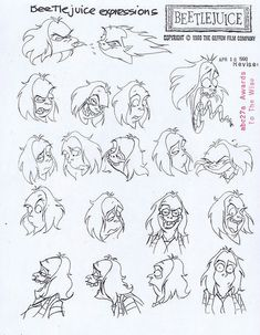 beetlejuice cartoon model sheets - Google Search
