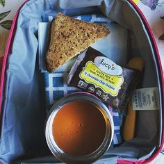 School lunch: grilled cheese with @applegate turkey and apples, @drlucys chocolate chip cookies and @pacificfoods tomato soup. #schoollunch #lunchbox #healthykids #superstartshere
