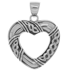 Jewelry Trends Sterling Silver Celtic Heart Shaped Pendant #jewelrytrends