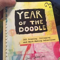 Yay! It's here...an advance copy of Year of the Doodle, dropping in November!!!!