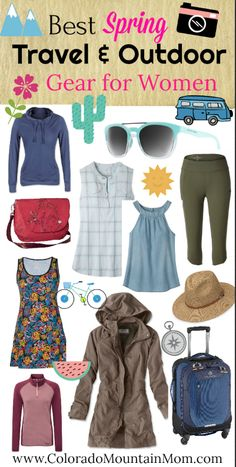 Best Spring Outdoor and Travel Gear for Women #travel #outdoors #spring #clothing #gear #style