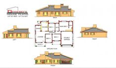 Samples of our House Plans 4 Bedroom House Plans, My House Plans, Beautiful House Plans, Beautiful Homes, Modern Bungalow House, Architectural Sketches, Entrance, Floor Plans, Houses