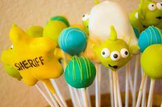 Cake pops at a Toy Story Party #toystory #party