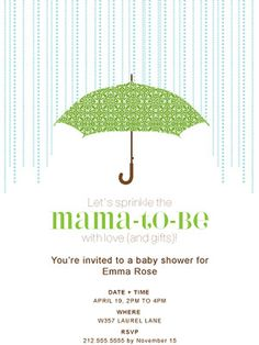 """Sprinkle"" baby shower theme. Downloadable invitaion."