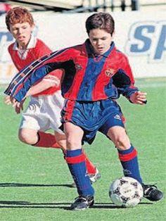 Iniesta younger #fcbarcelona